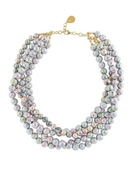 Devon Leigh Rainbow Lava 4-Row Necklace