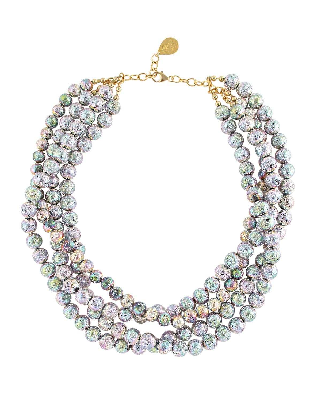 Rainbow Lava 4-Row Necklace