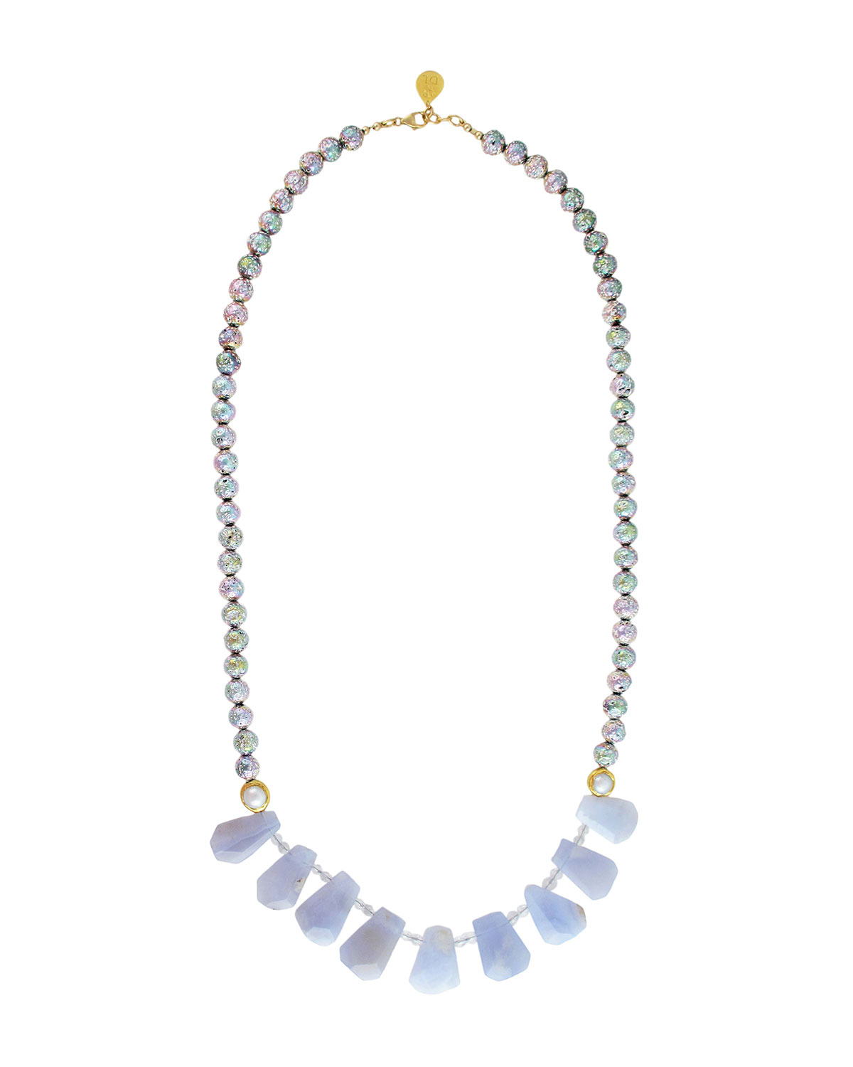 Pearl-Strand Chalcedony Necklace
