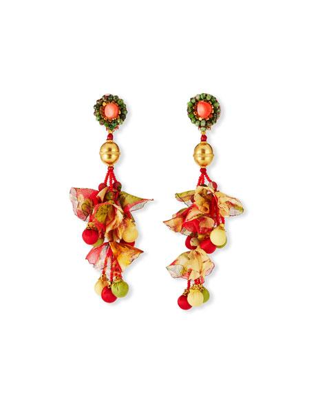 Ranjana Khan Calendula Linear Clip Earrings