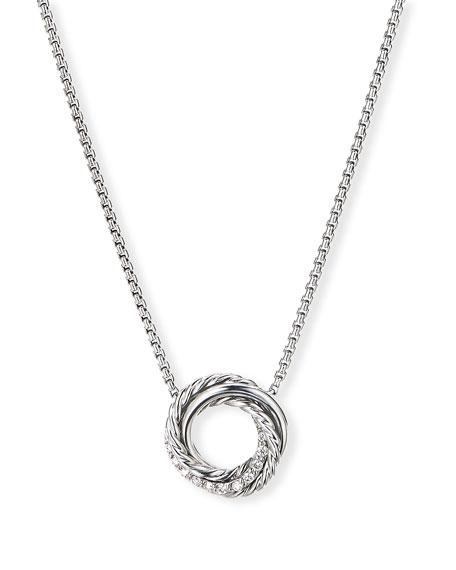 David Yurman Crossover Mini Pendant Necklace