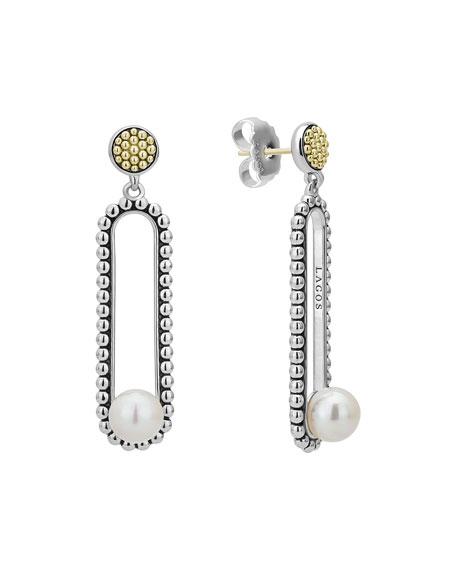 Lagos Luna Pearl Drop Earrings, 7mm