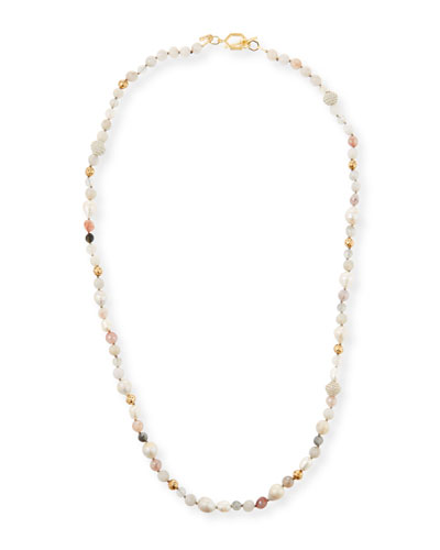 Long Mixed Bead and Pearl Necklace, 40