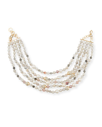 5-Strand Beaded Necklace