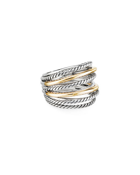 David Yurman DY Crossover Wide Ring with 18k Gold