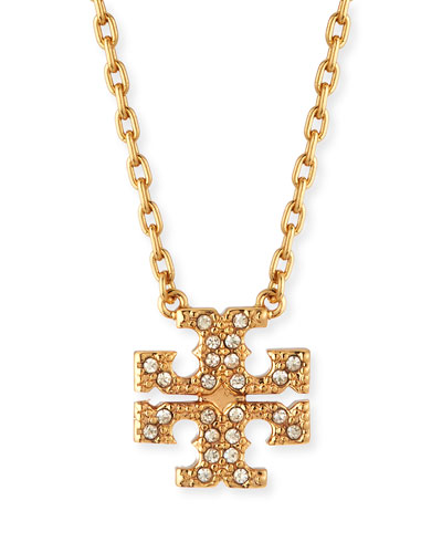 Kira Pave Delicate Necklace, Gold