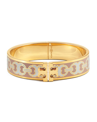 Kira Printed Enamel 14mm Bracelet, Pink/Gold