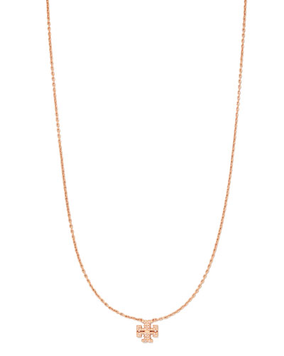 Kira Pave Delicate Necklace, Rose Gold
