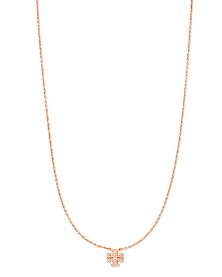 Tory Burch Kira Pave Delicate Necklace, Rose Gold