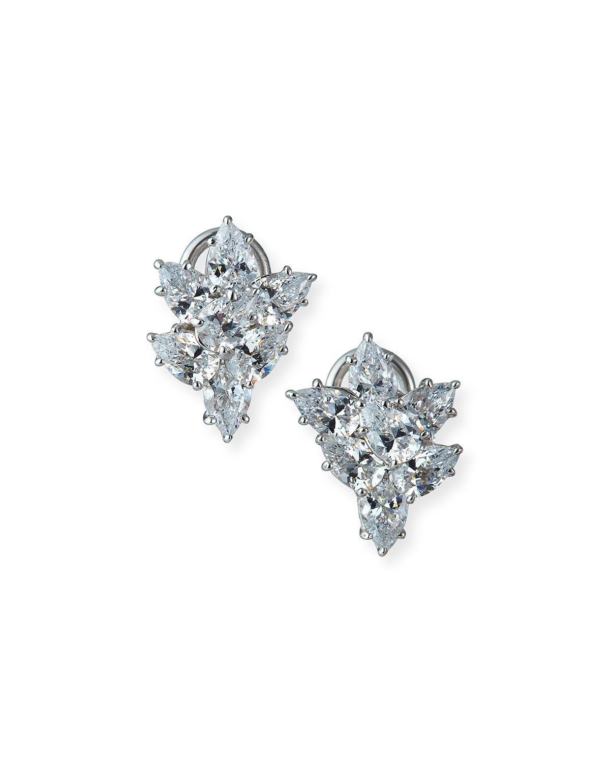 Small Cubic Zirconia Cluster Earrings