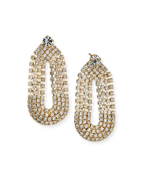 Gas Bijoux Trevise Crystal Loop Earrings