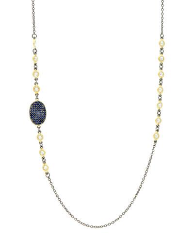 Pave Oval-Station Necklace