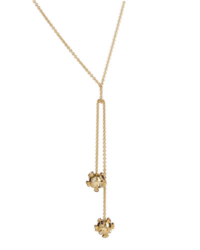 Double Sputnik Knot Necklace