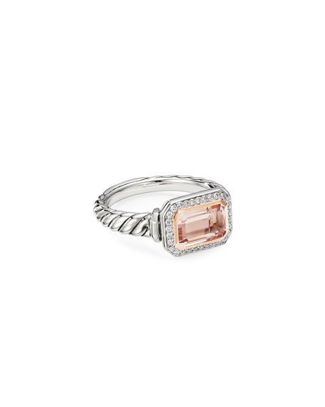 David Yurman Novella Stone Ring w/ 18k Rose Gold & Morganite