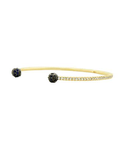 Pave Thin Open Cuff Bracelet