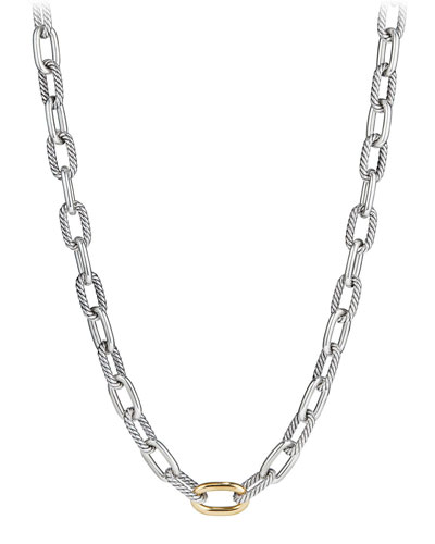 Madison Chain 11mm Medium Link Necklace w/ 18k Link, 20