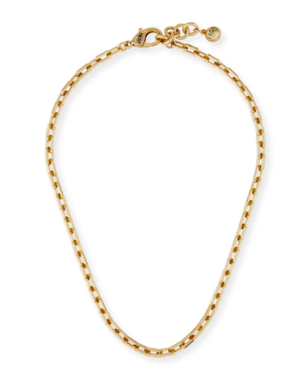 Edge Chain Short Necklace