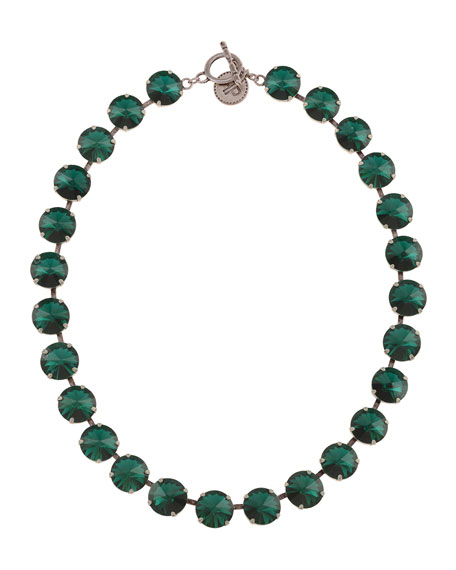 Rebekah Price Emerald Rivoli Necklace, Emerald