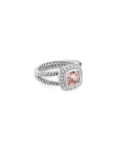 Petite Albion Ring with Morganite & Diamonds
