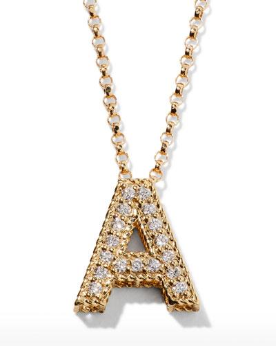 18k Diamond Princess Letter Necklace