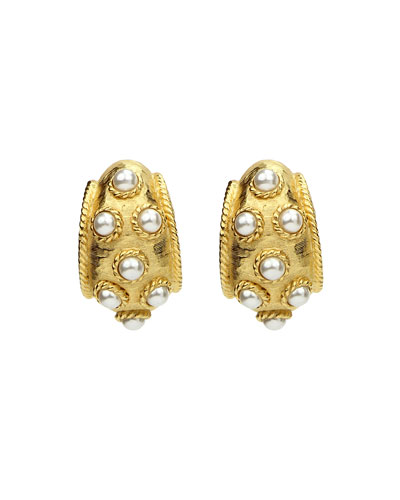 Thick Pearly Clip-On Earrings