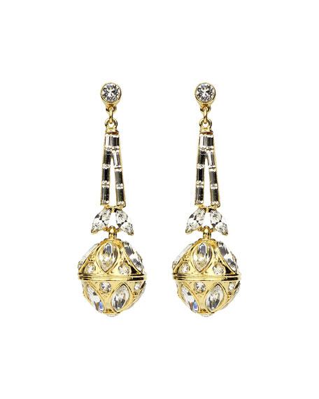 Ben-Amun Baguette Crystal Trapeze Earrings