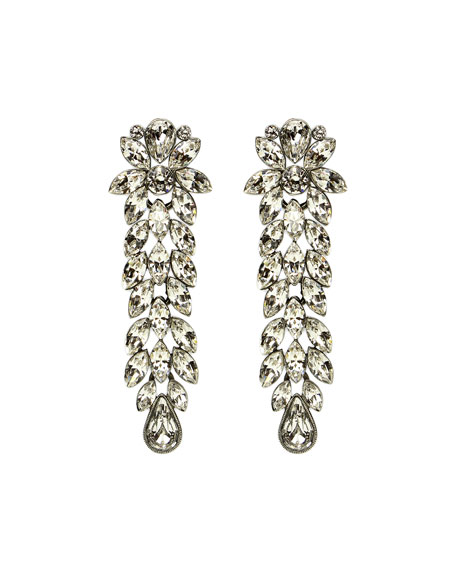 Ben-Amun Large Crystal Drop Earrings