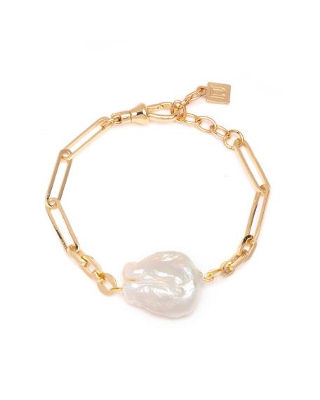 Dannijo Helena 1-Pearl Chain Bracelet