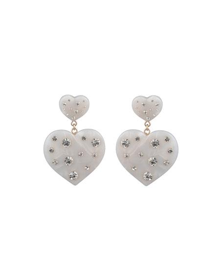 Dannijo Amante Heart-Drop Earrings