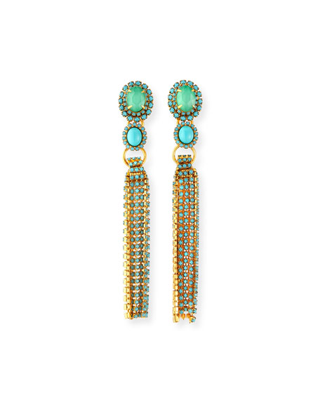 Elizabeth Cole Tina Tassel Earrings
