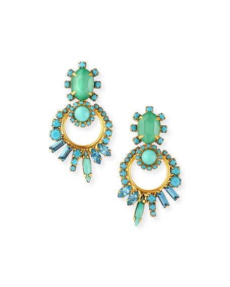 Elizabeth Cole Bentley Crystal Door-Knocker Earrings