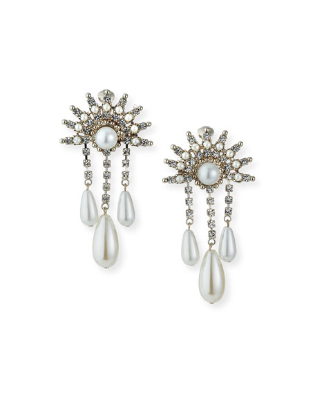 Auden Crystal 3-Dangle Clip Earrings