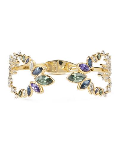 Navette Crystal Break Hinge Bracelet