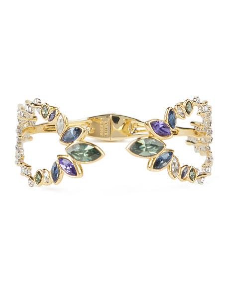Alexis Bittar Navette Crystal Break Hinge Bracelet