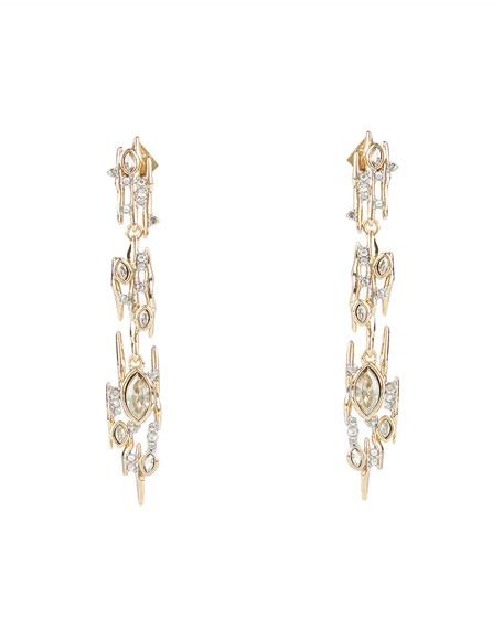 Alexis Bittar Navette Crystal Linear Spike Post Earrings
