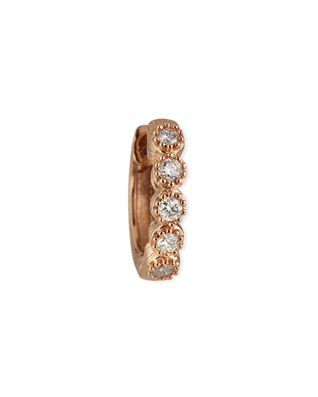 18K Petite Diamond Bezel Hoop Earring