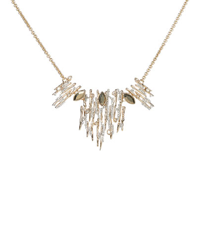 Navette Crystal Spiked Small Bib Necklace
