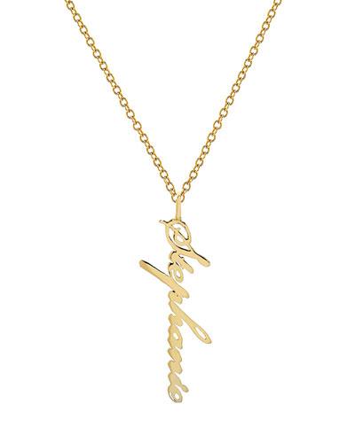 Personalized 14k Gold Script Name Pendant Necklace