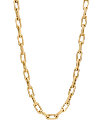 14k Gold Large Open-Link Chain Necklace