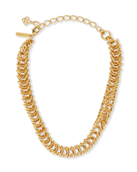 Oscar de la Renta Tubular Braid Chain Necklace
