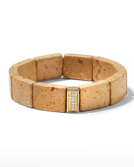 Sydney Evan 14k Diamond 3-Row Spacer Riverstone Bracelet
