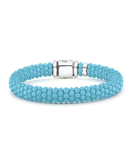 Lagos Blue Caviar Ceramic Bead 9mm Bracelet