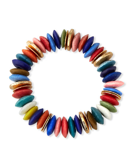 Akola Rainbow Glass Stretch Bracelet