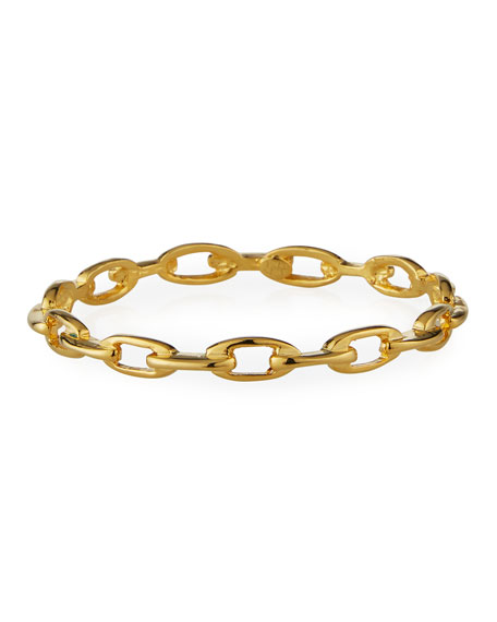 Kenneth Jay Lane Polished Gold Oval-Link Bangle