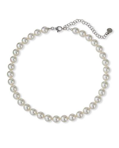 Imitation Pearl-Strand Necklace