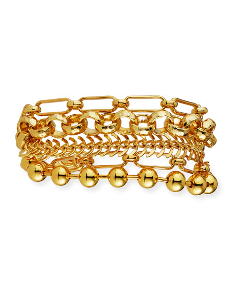 NEST Jewelry Gold Chain Multi-Strand Bracelet