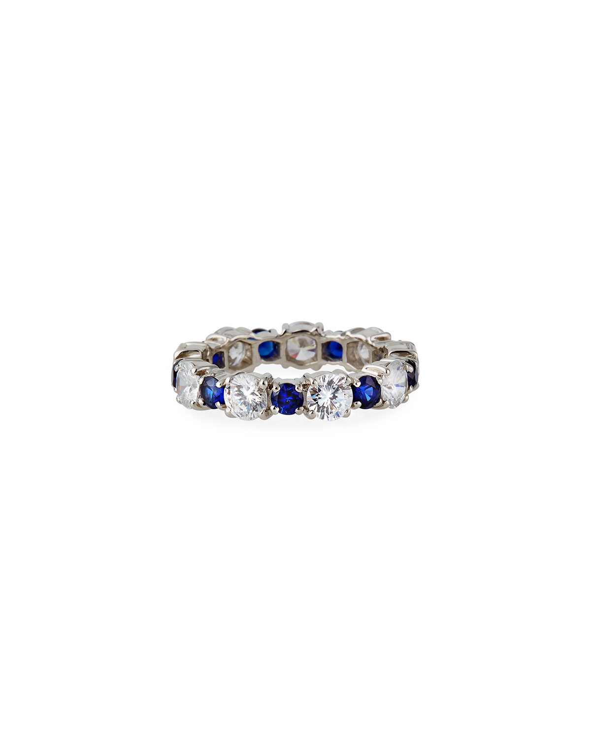 Alternating Big and Little Stone Ring