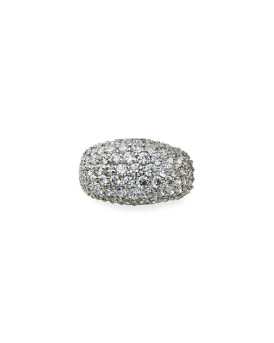 Cubic Zirconia Pave Dome Ring, Size 4-8