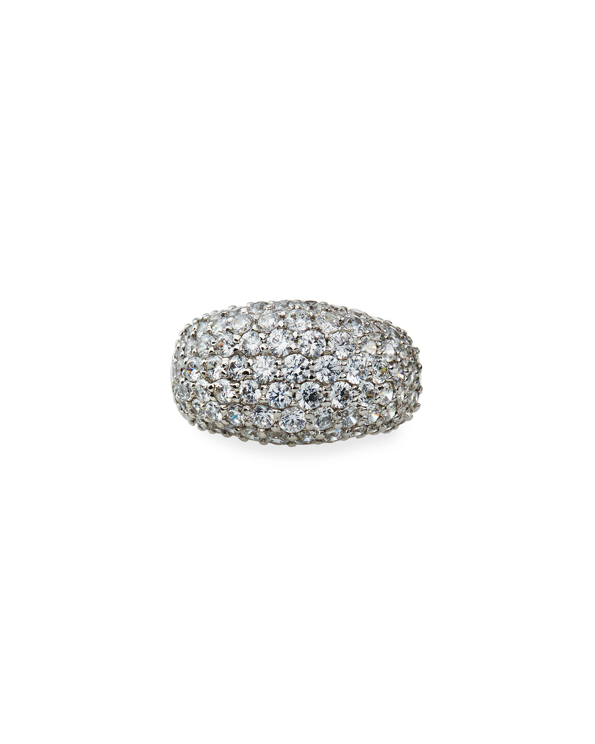 4.25 TCW Cubic Zirconia Pave Dome Ring
