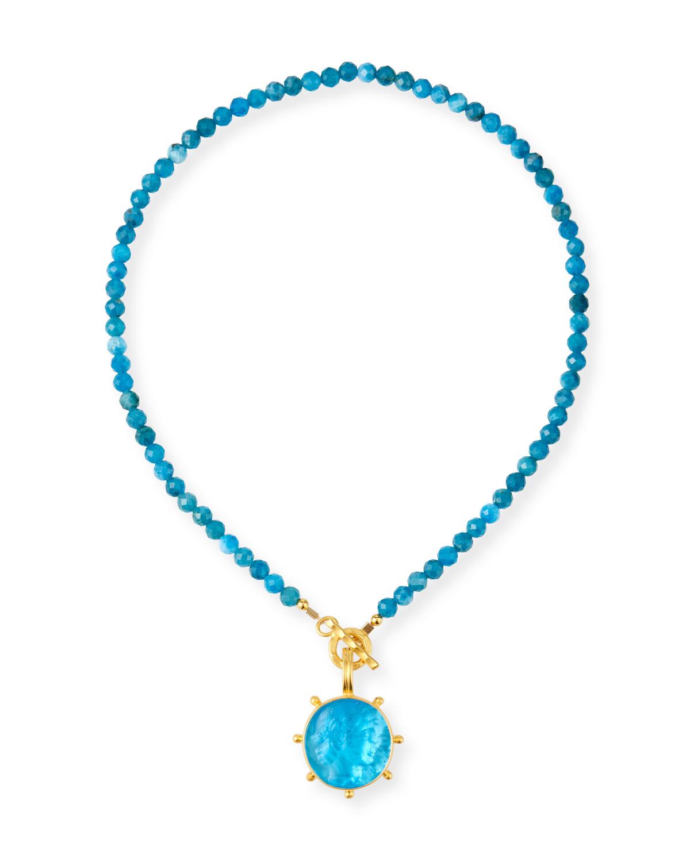 Detachable Italian Glass Pendant Necklace